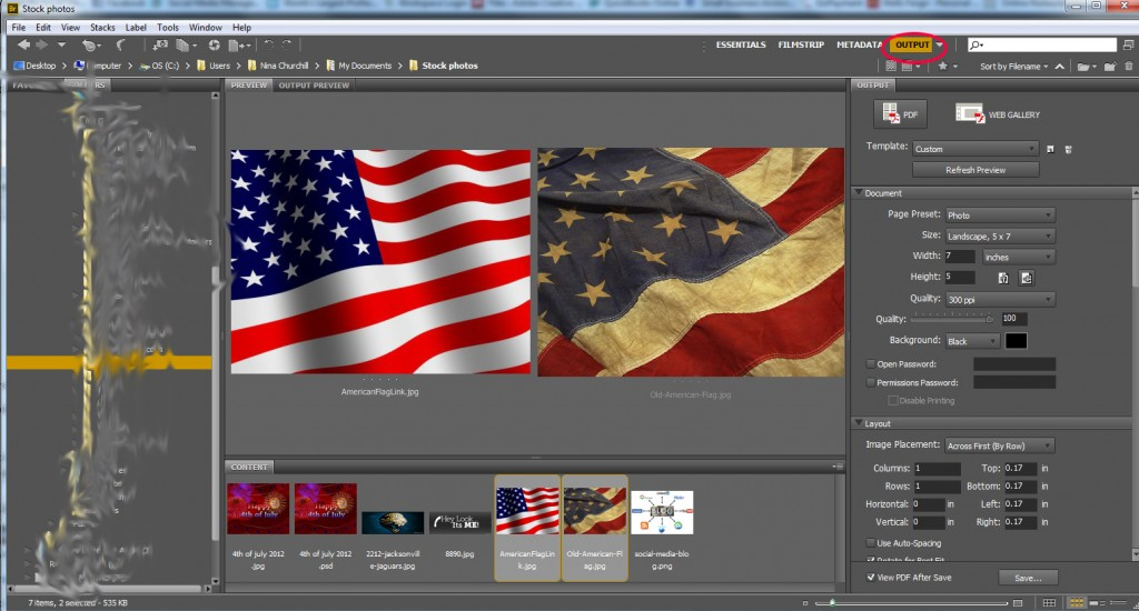How to Convert an Image to PDF in Adobe Bridge