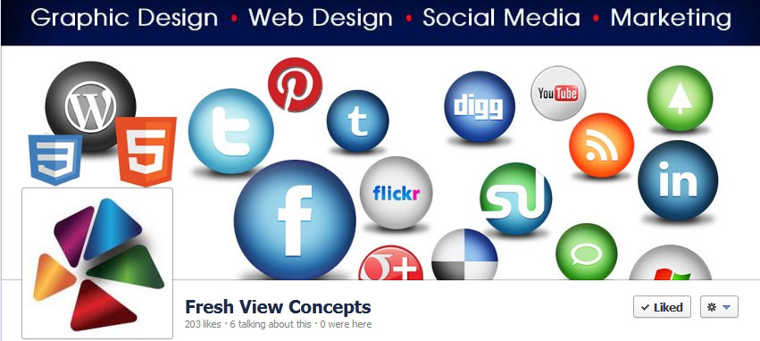 Facebook cover photo- Fresh View Concepts