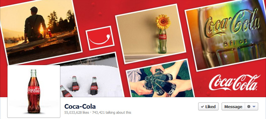 Facebook cover photo- Coca Cola