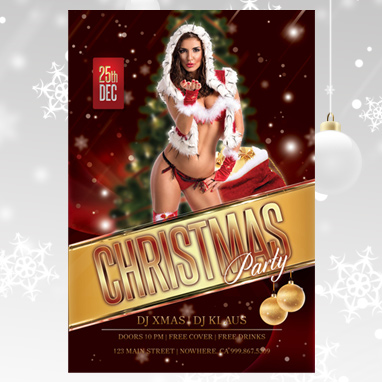 Christmas Party Flyer  Club Flyers