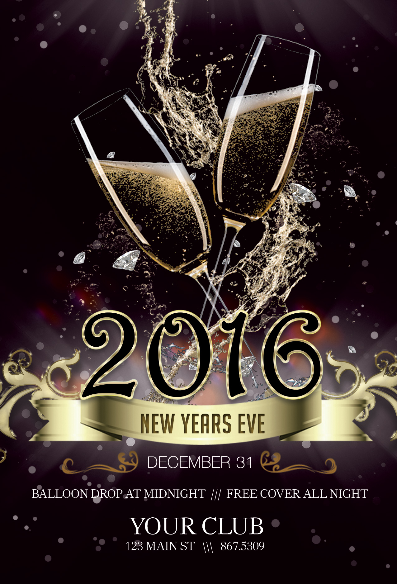 new years eve flyer club flyer fresh view concepts